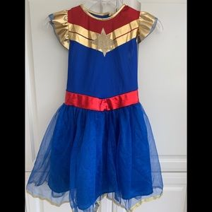 Captain Marvel Girls Costume M 8-10